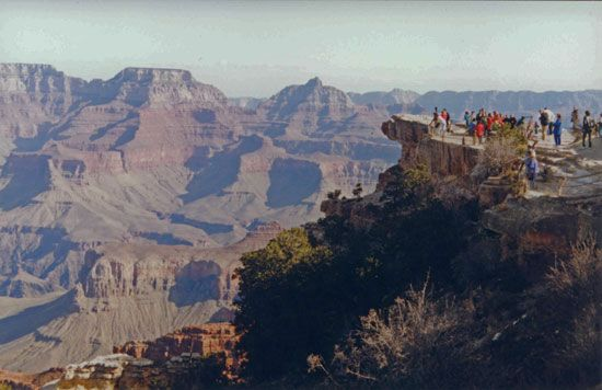Aussichtspunkt am Grand Canyon in Arizona